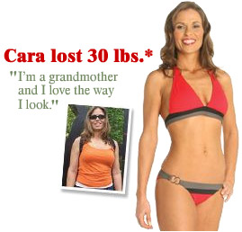 Nutrisystem Cara lost 30 pounds